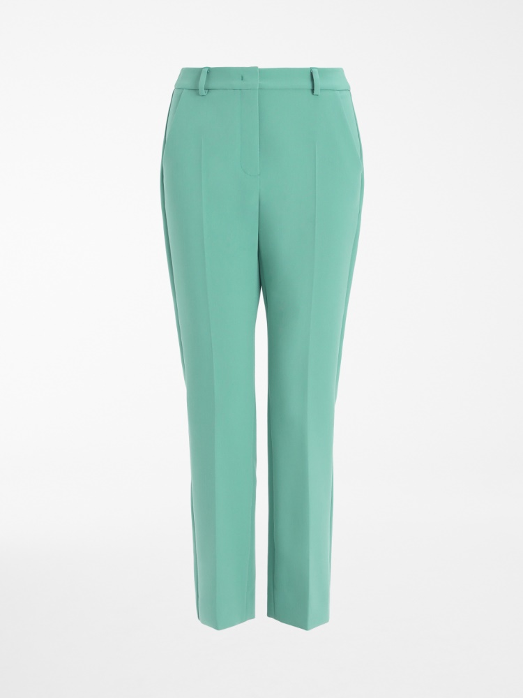 Viscose canvas trousers