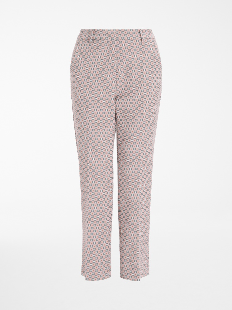 Cotton jacquard trousers