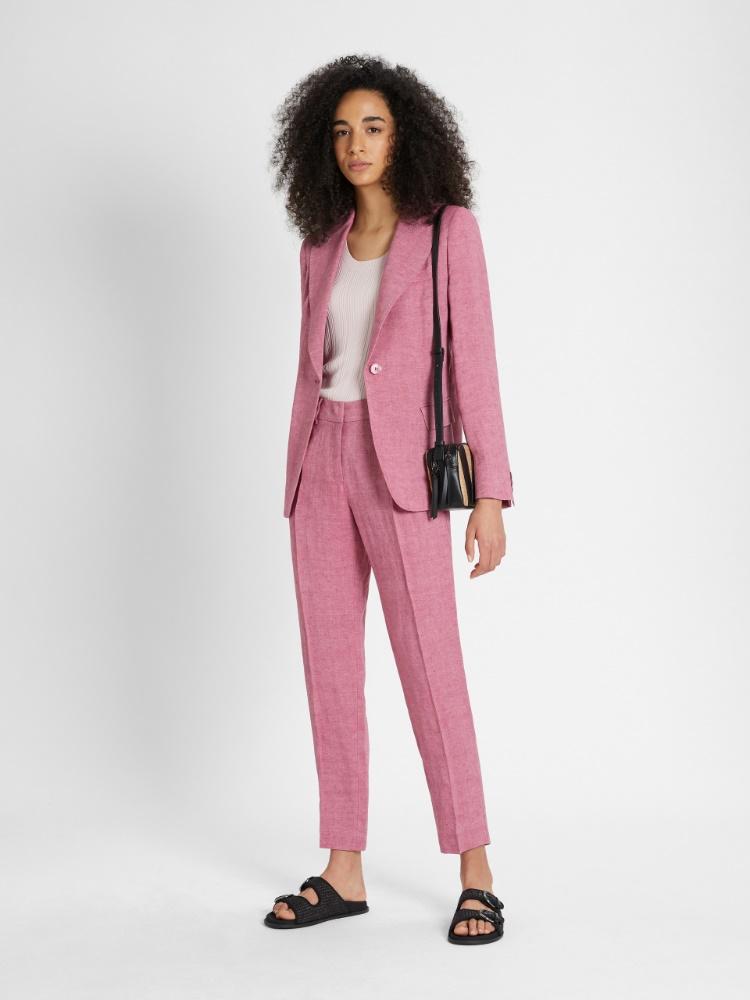 Linen canvas trousers