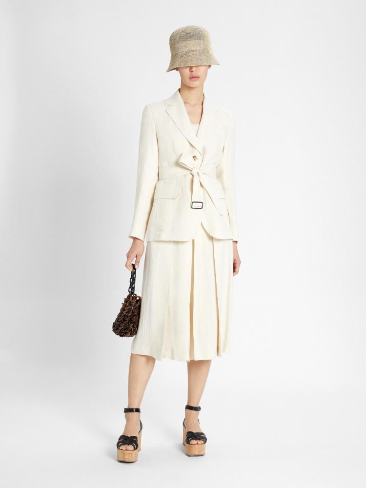 Linen canvas culottes