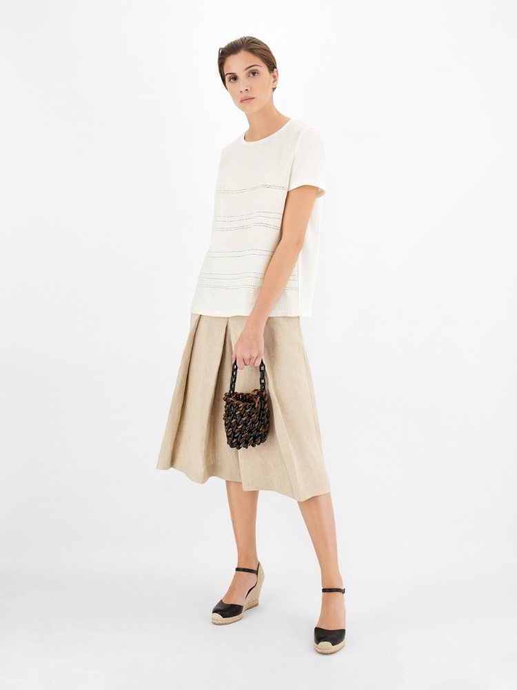 Linen canvas culottes
