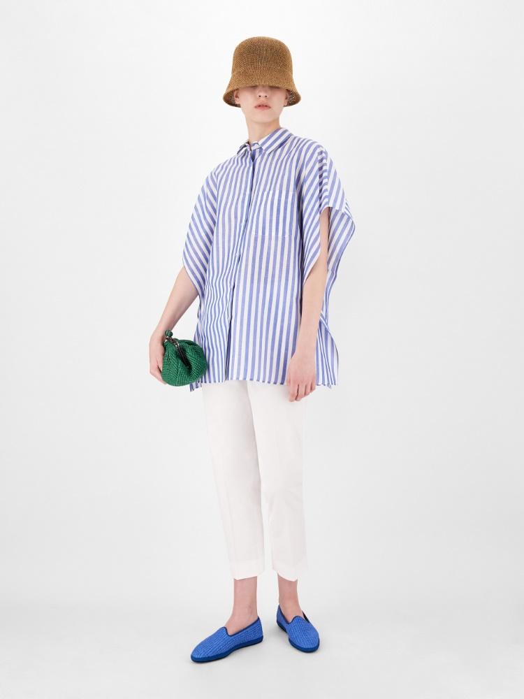 Cotton gabardine trousers