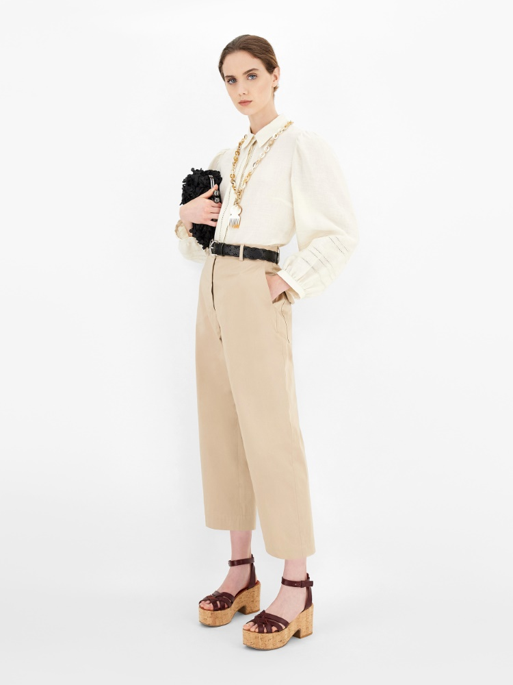 Cotton sateen trousers
