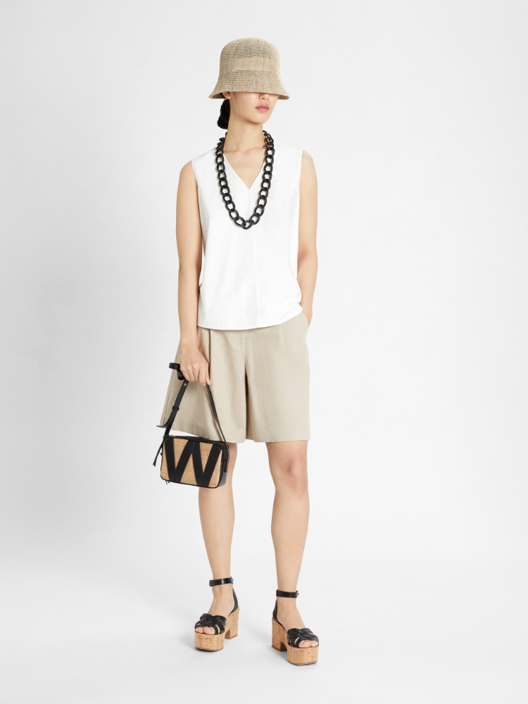 Cotton and jersey top