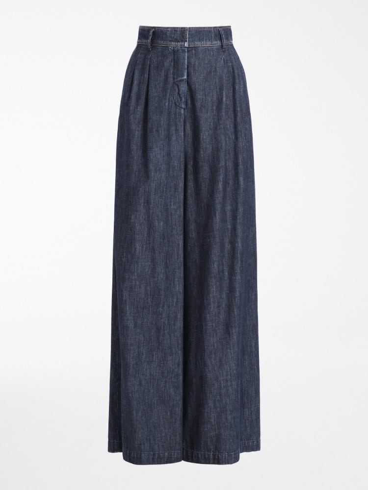 Cotton denim trousers