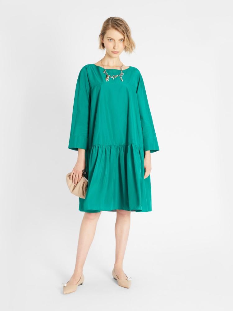 Cotton taffeta dress