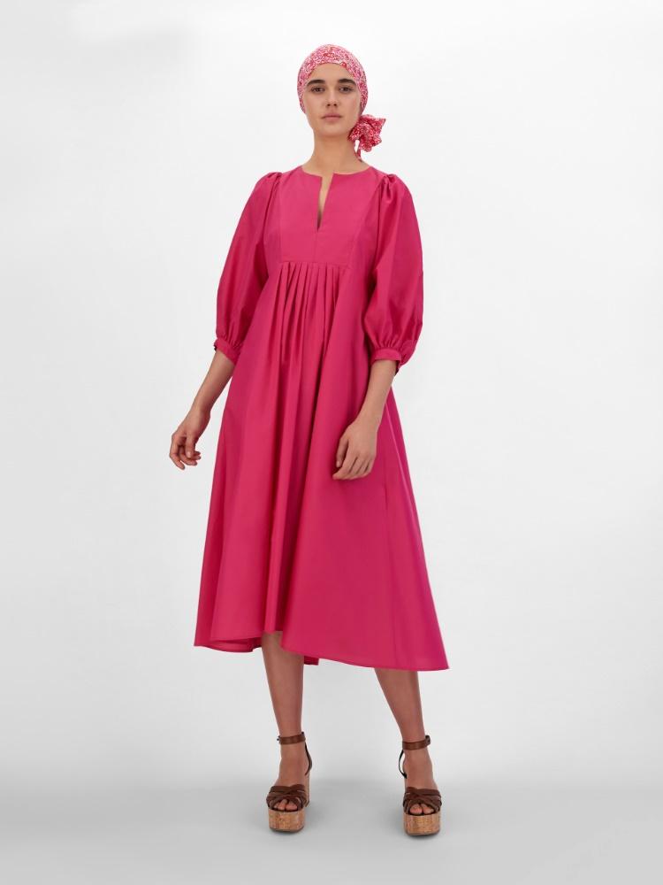Silk and cotton fabric dress