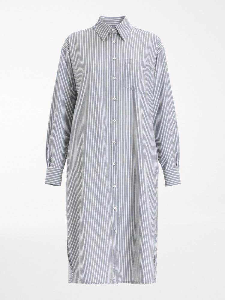 Plain-weave woollen dress