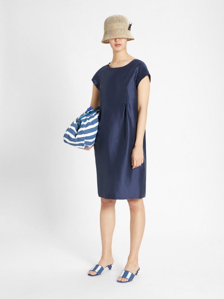 Linen and silk satin dress