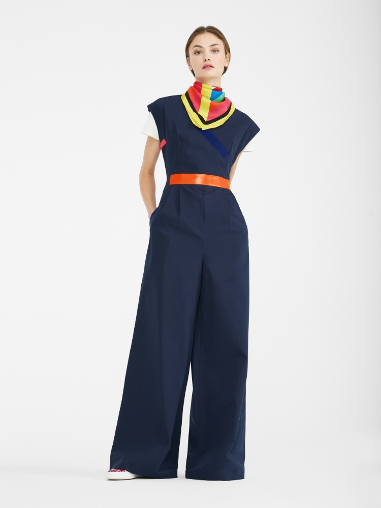 Cotton faille jumpsuit