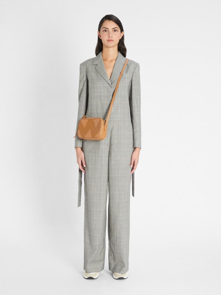 Plain-weave woollen jumpsuit