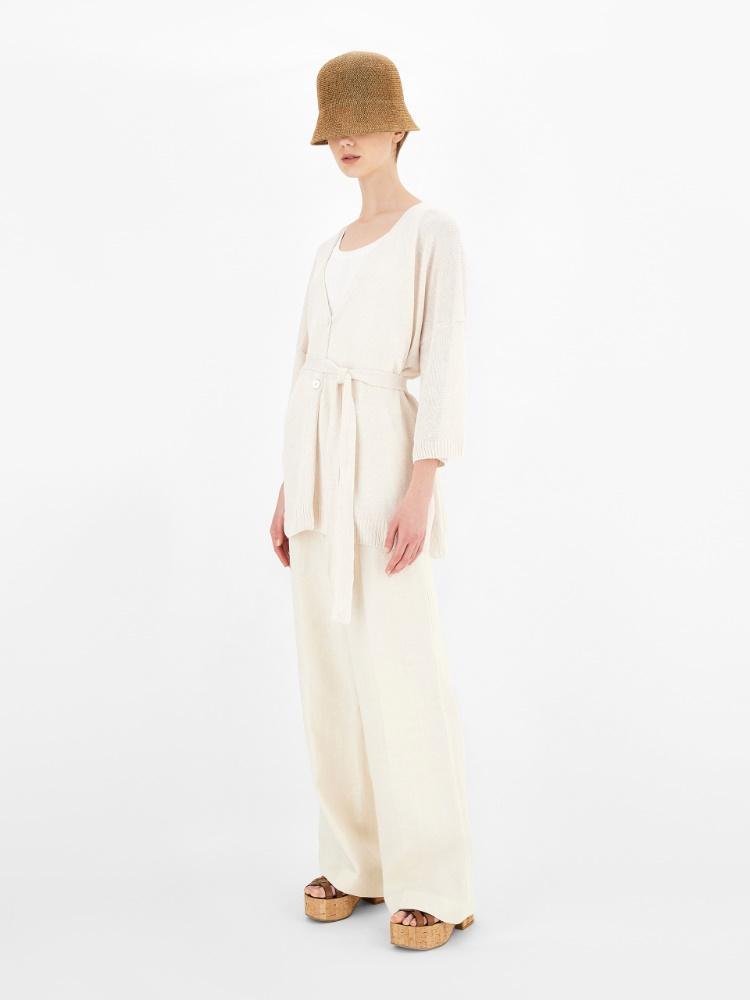 Linen cordonnet cardigan
