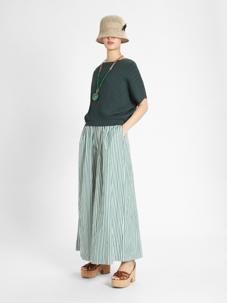 Pleated viscose top