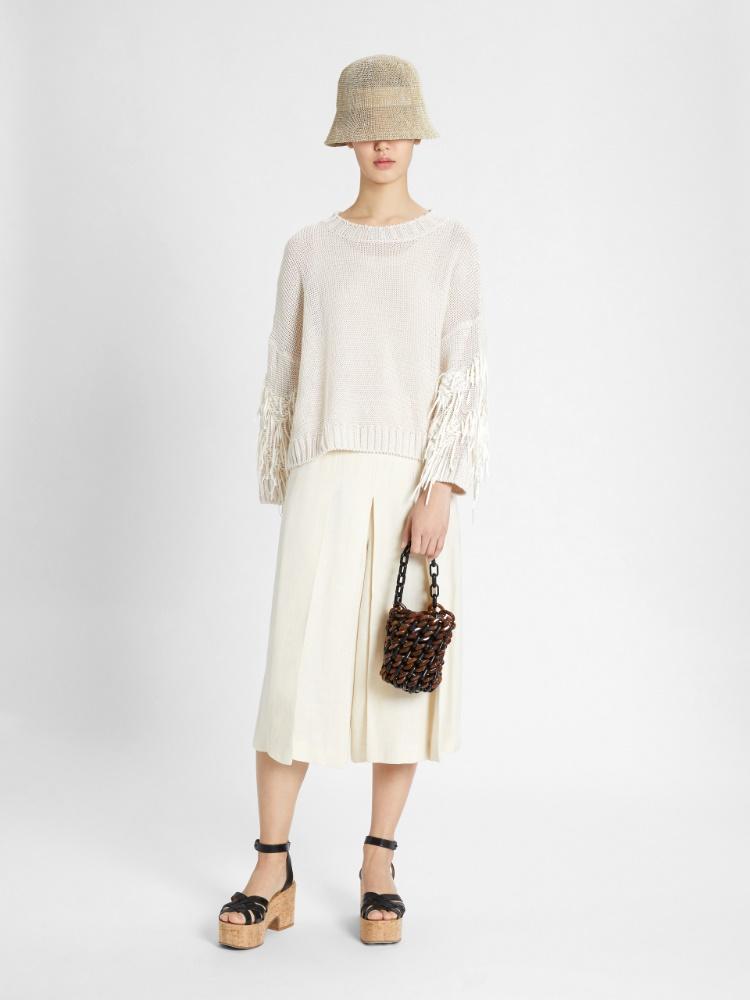 Linen cordonnet pullover