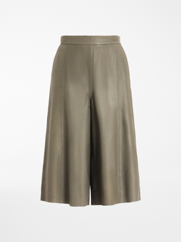 Nappa leather culottes