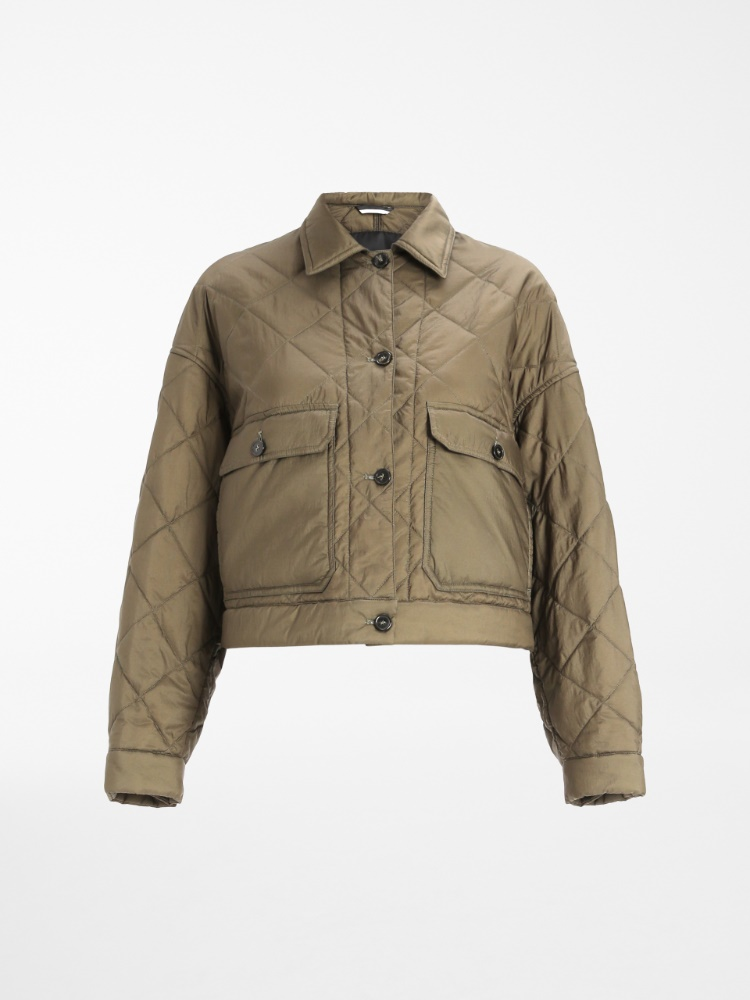 Water-repellent canvas blouson jacket