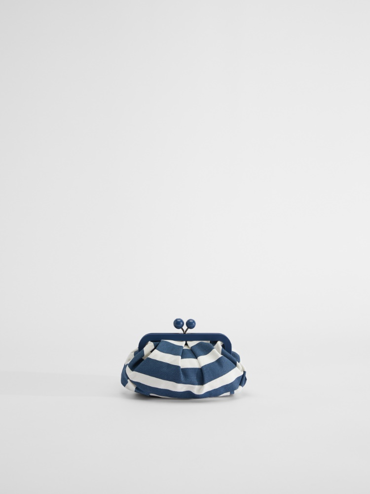 Small striped canvas Pasticcino Bag