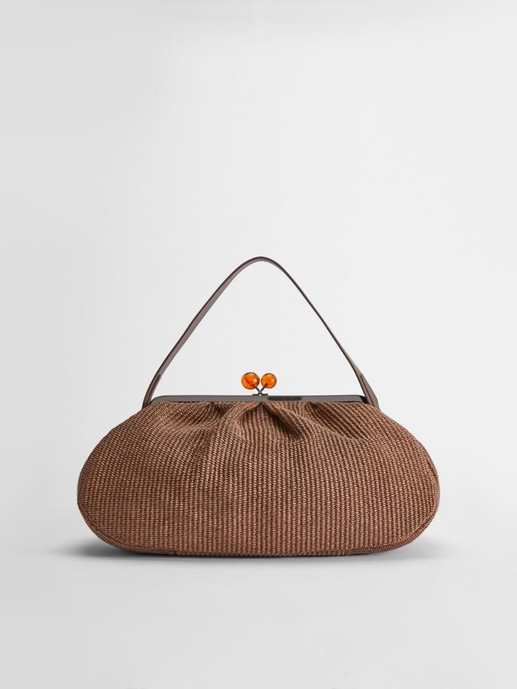 Large raffia Pasticcino bag