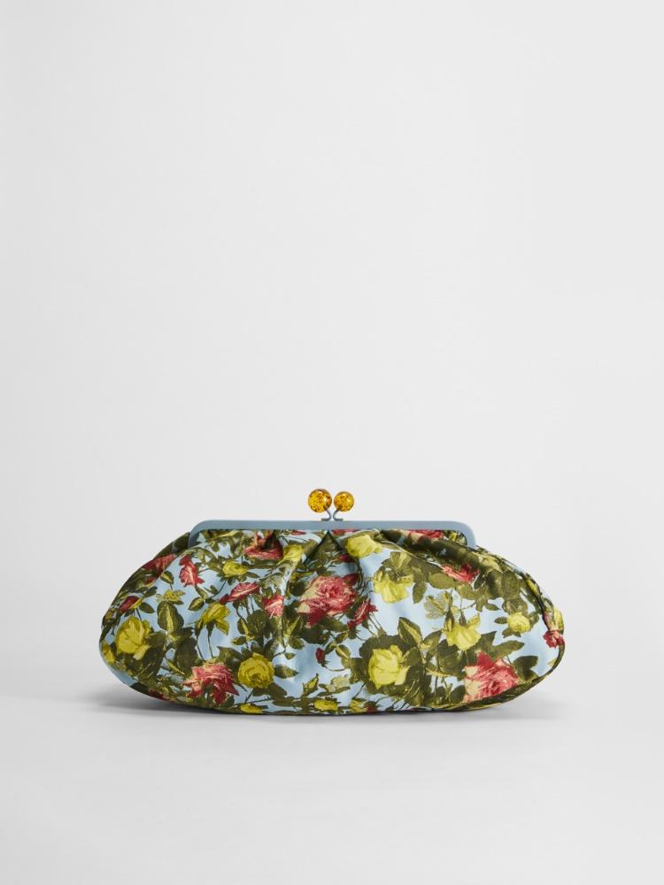 Jacquard brocade fabric large Pasticcino Bag