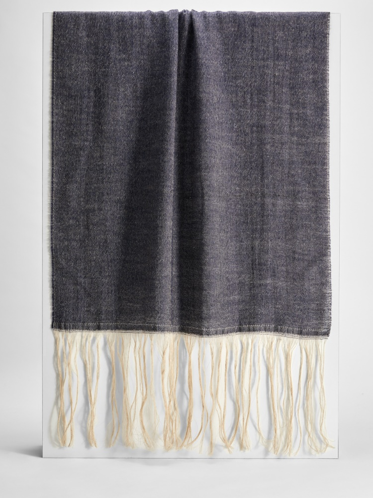 Wool and cotton scarf