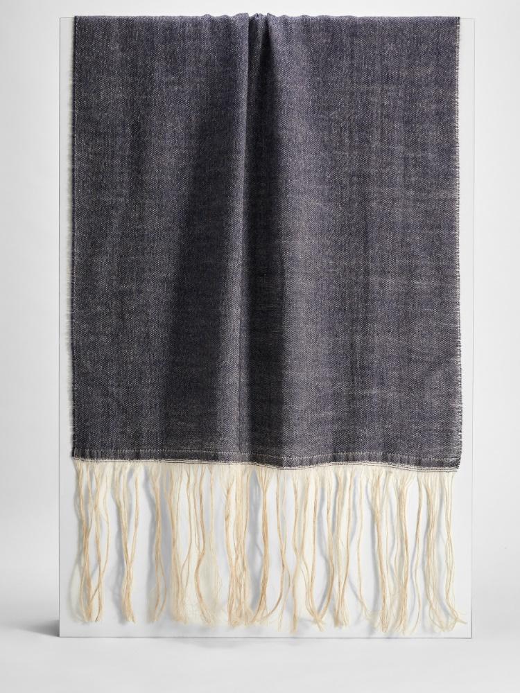 Sciarpa in lana e canapa