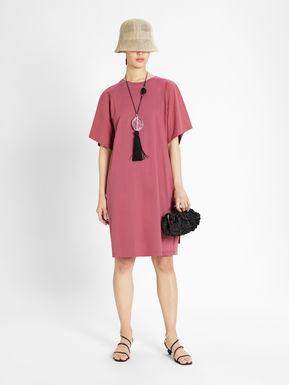 Jersey and cotton poplin dress