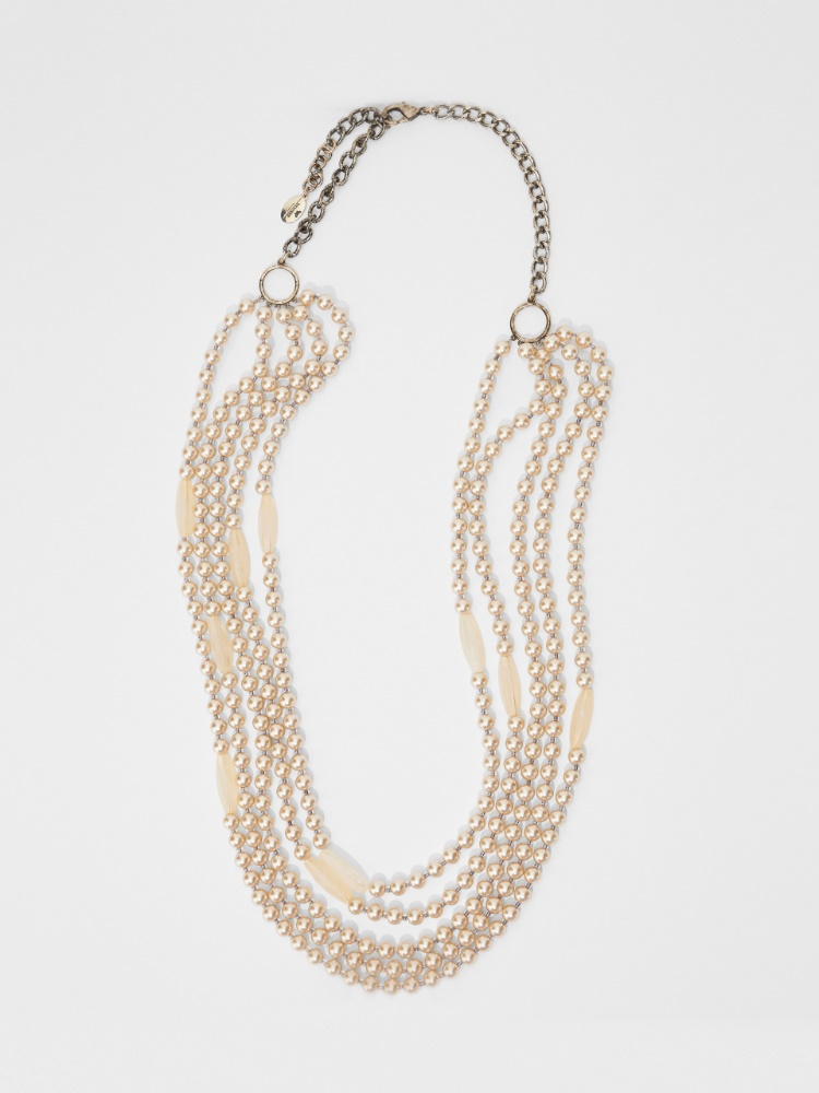 Multi-strand necklace with bead details