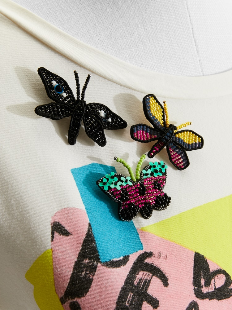 Set of butterfly brooches
