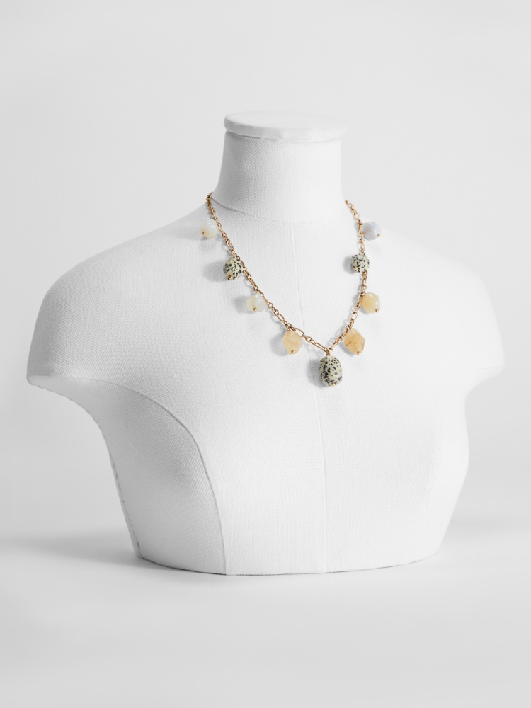 Necklace with stone charms