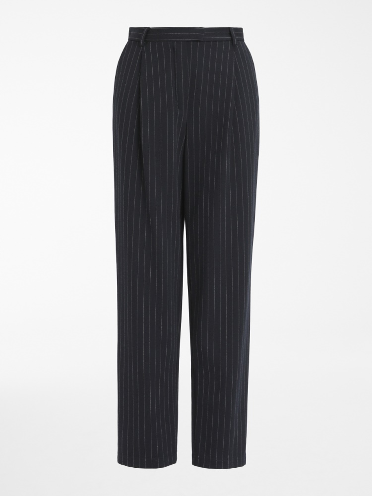 Cotton viscose trousers