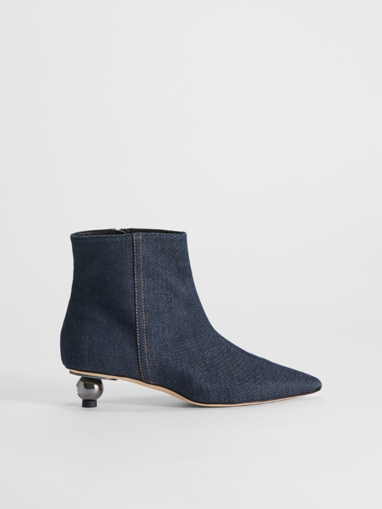 Denim ankle boot