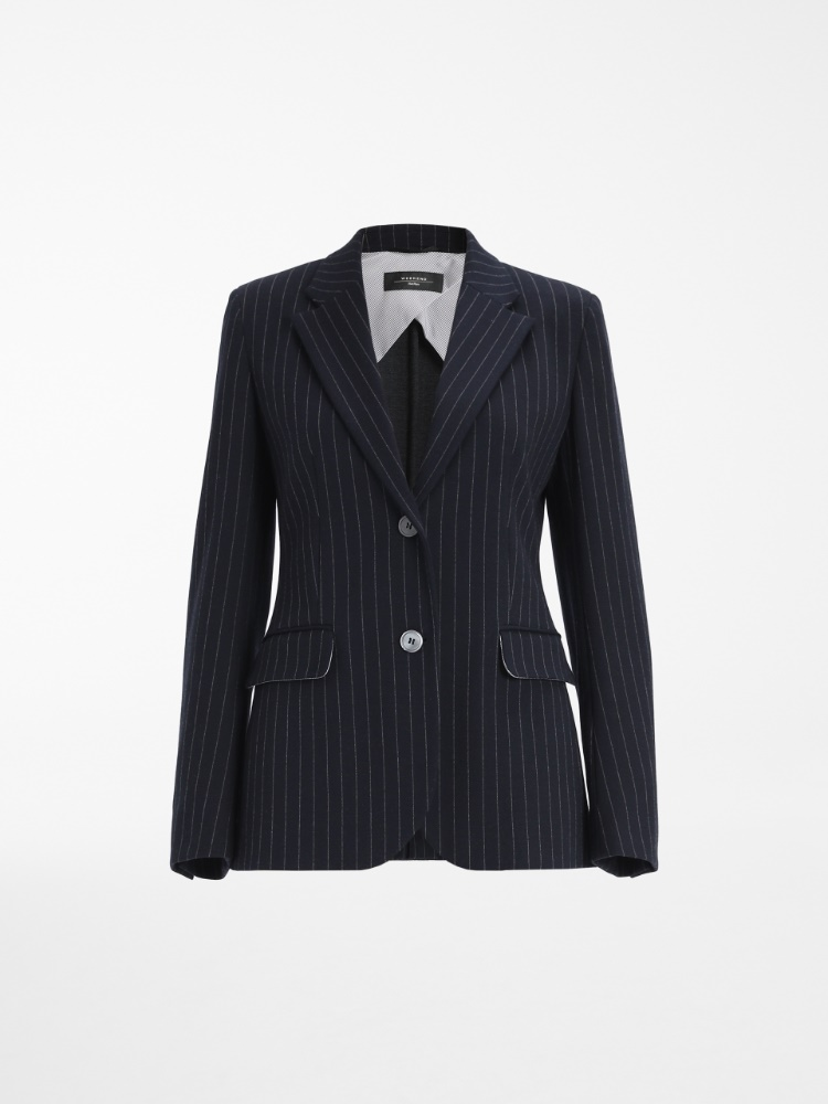 Viscose and cotton blazer