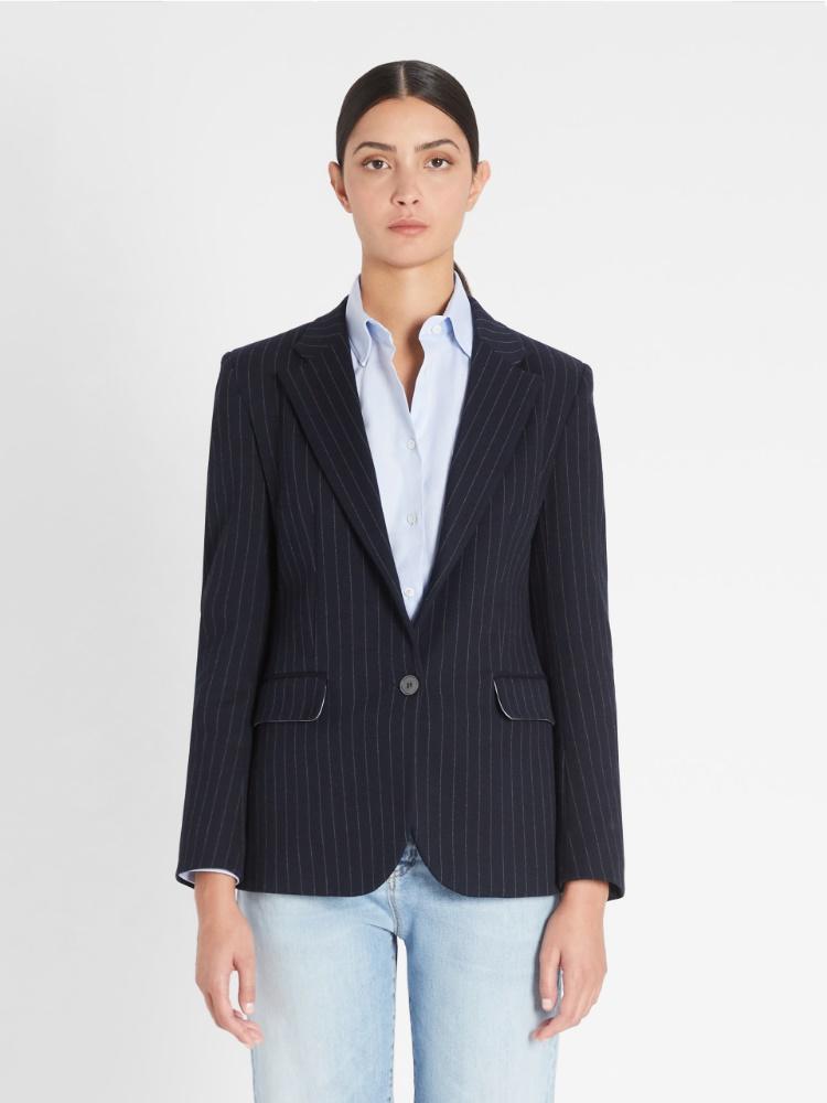 Viscose and cotton blazer