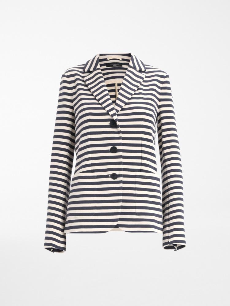 Cotton jersey blazer