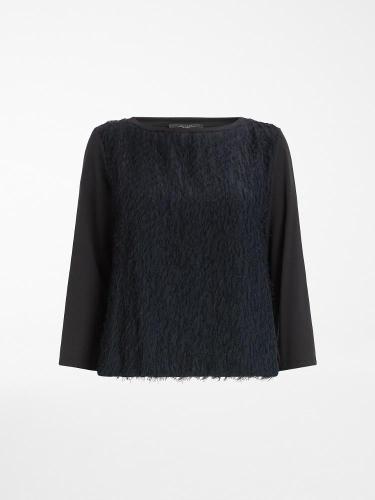 Jersey and fil coupé T-shirt