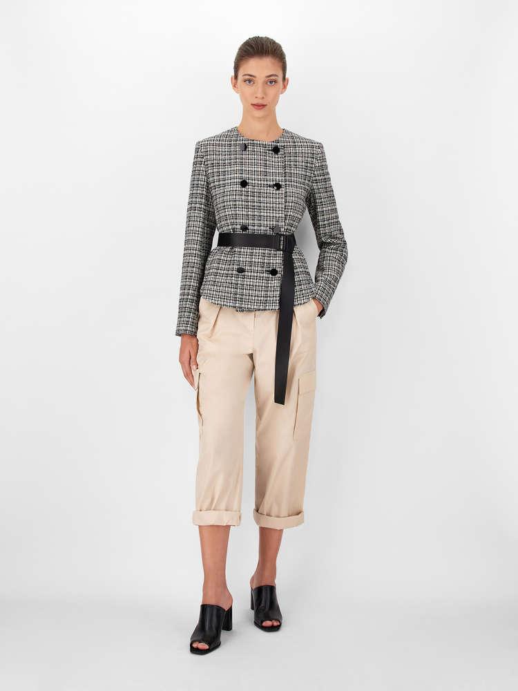 Jacke aus garngefärbtem Panama