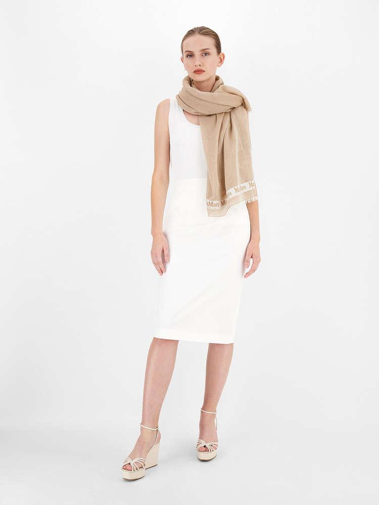 Cotton gabardine skirt
