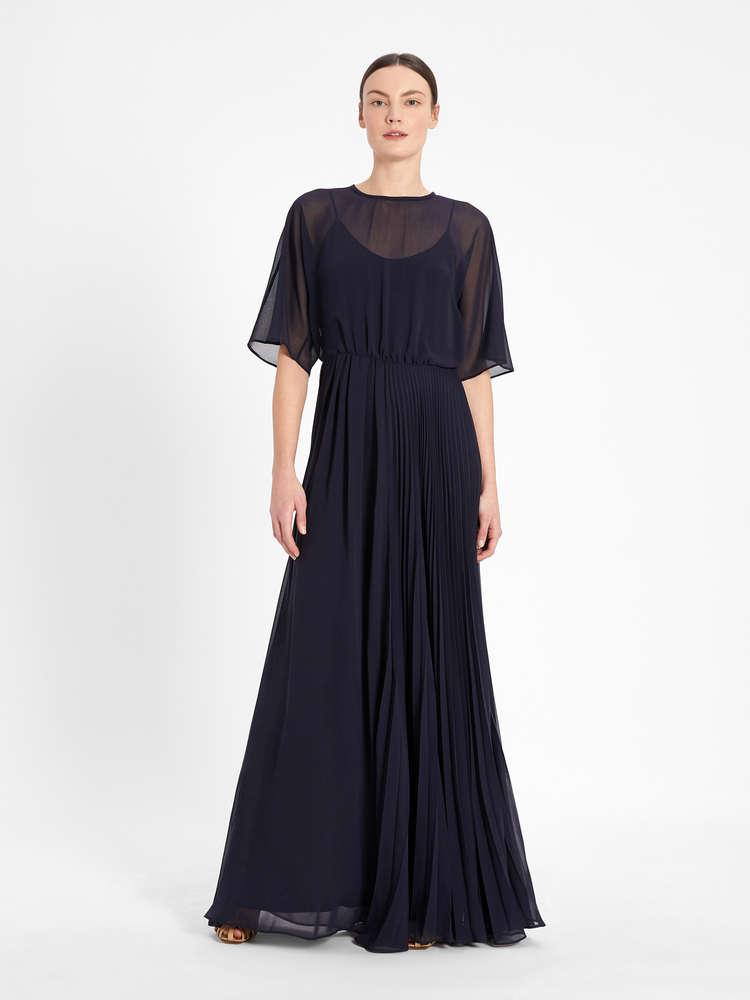Georgette sablé dress