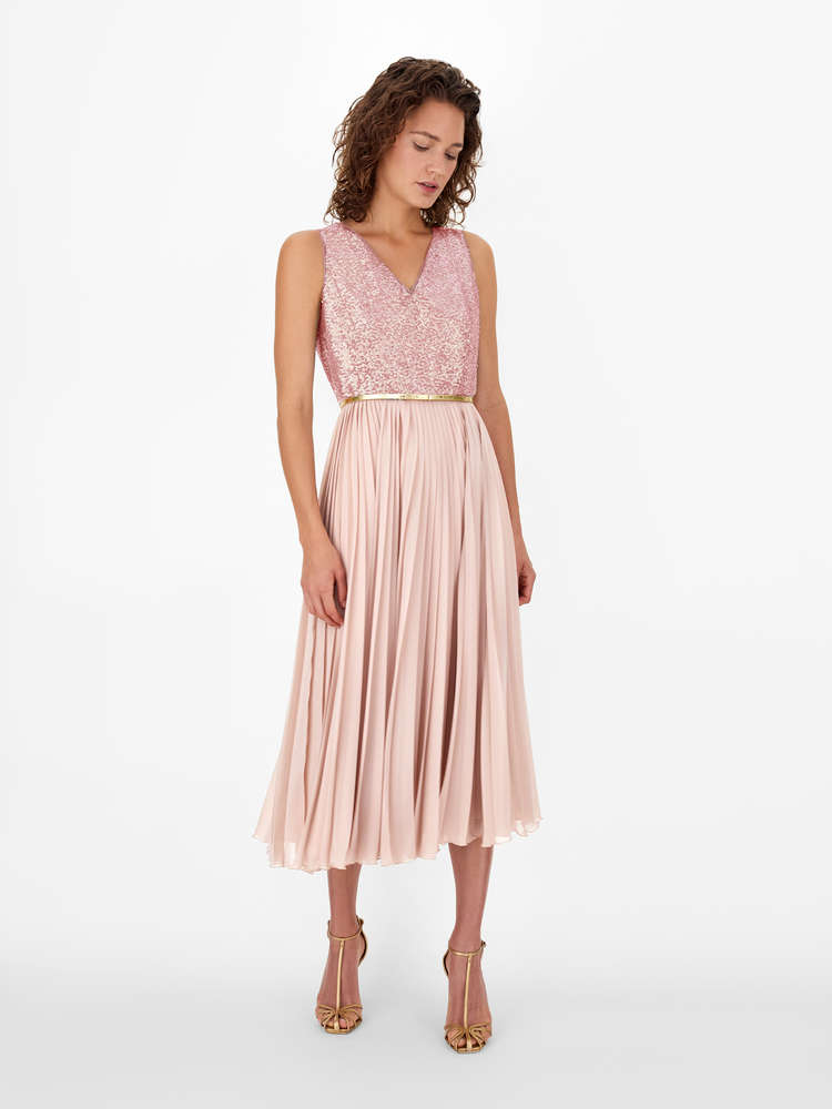Georgette sablé dress