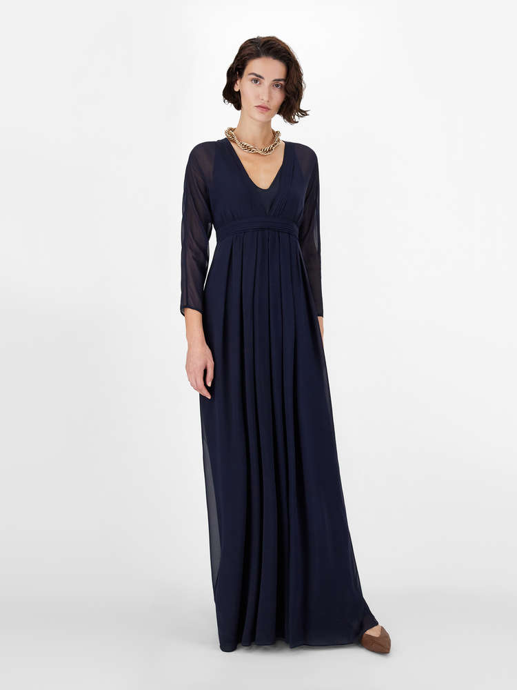 Pure silk georgette dress