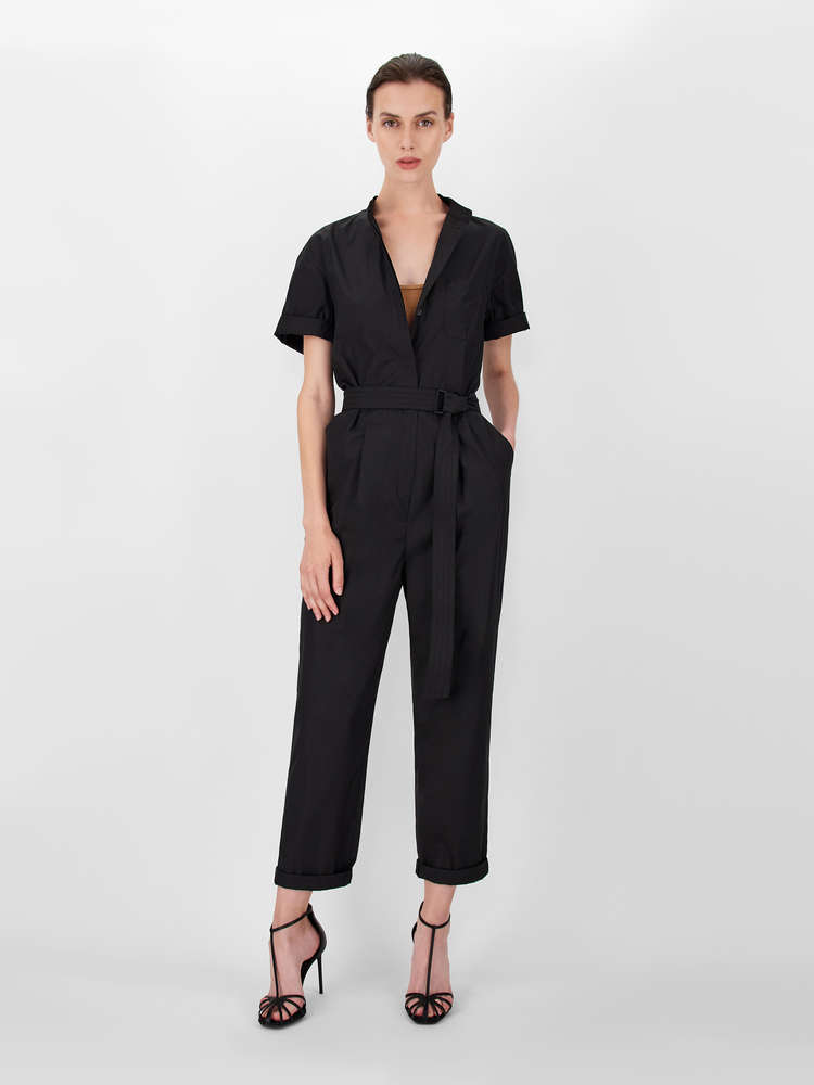 Cotton poplin jumpsuit
