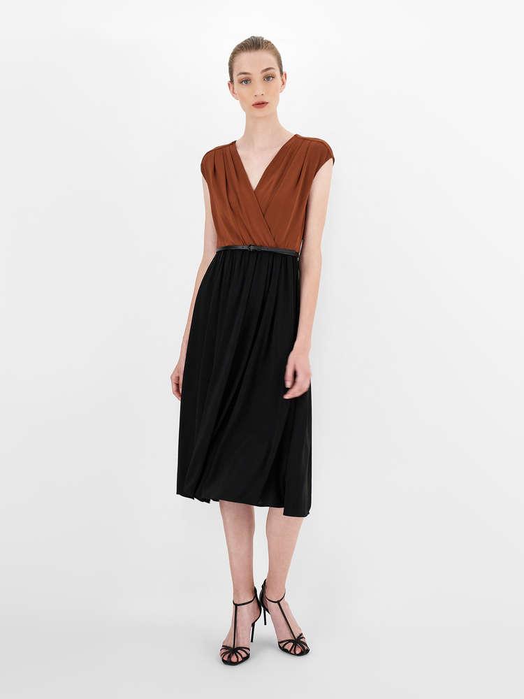 Jersey crepe dress