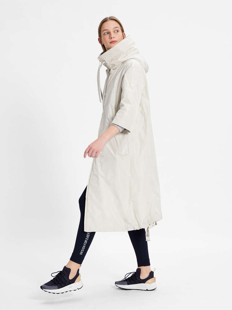 Water-repellent technical cotton parka
