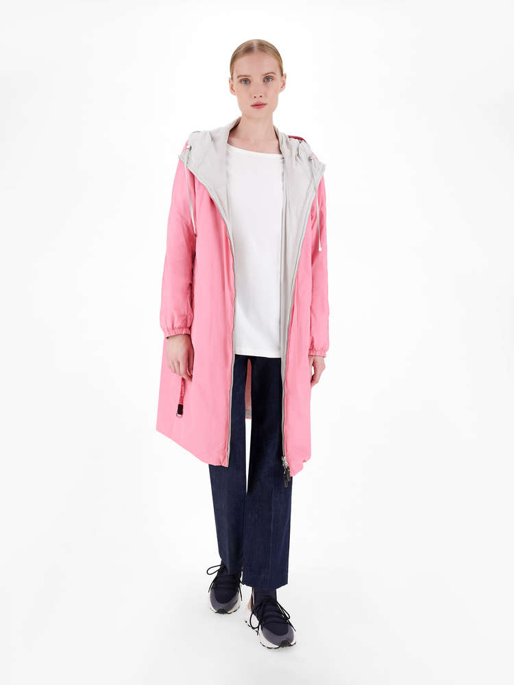Water-repellent reversible taffeta parka
