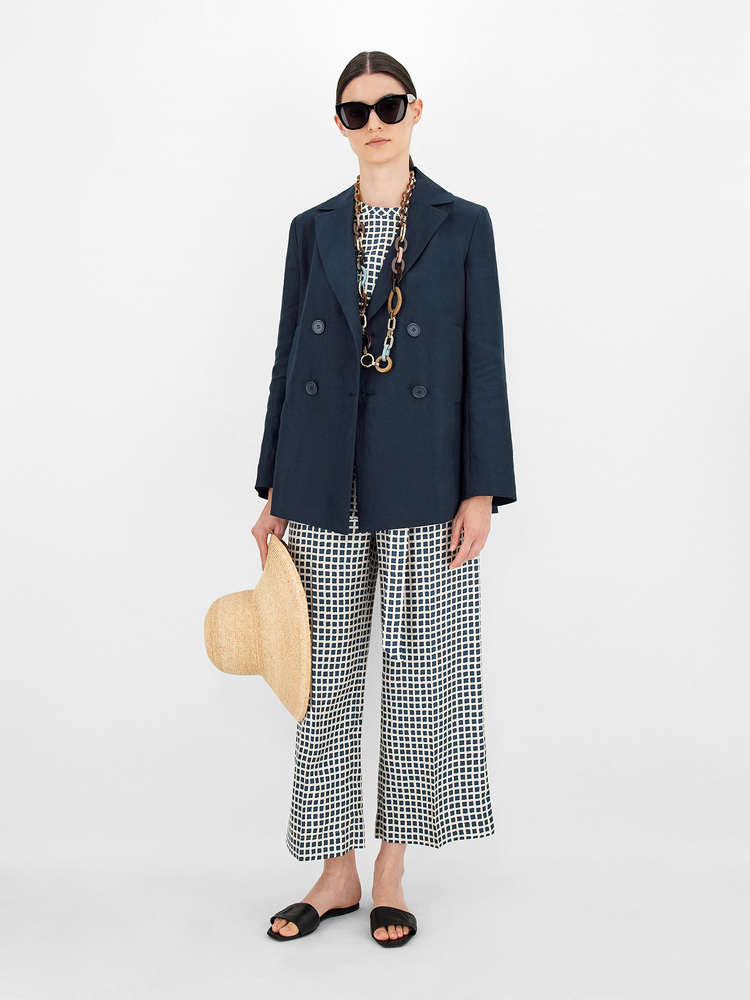 Linen fabric jacket