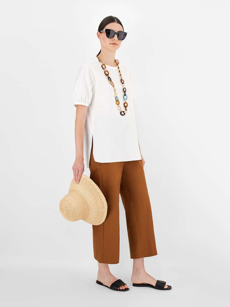 Cotton poplin tunic