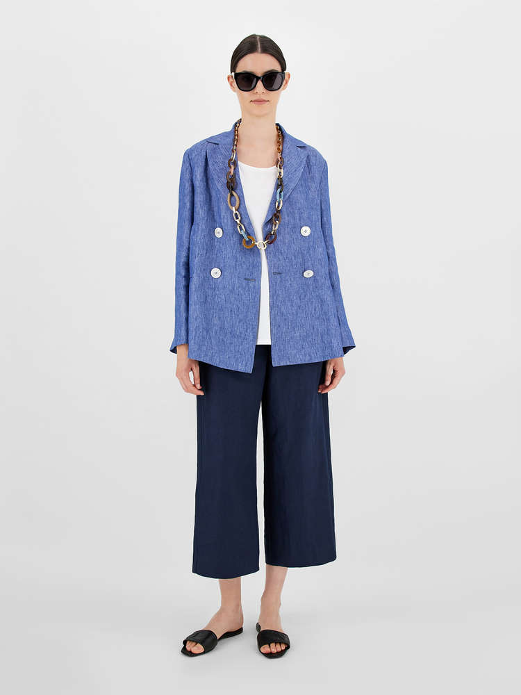 Linen fabric trousers