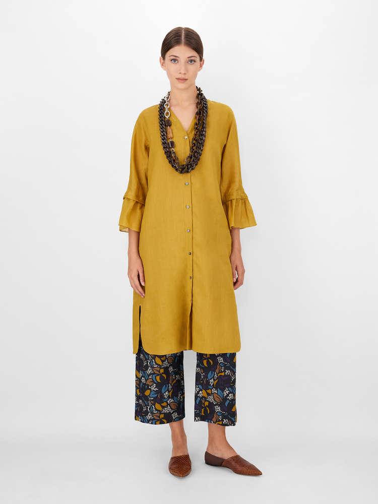 Cotton basketweave trousers