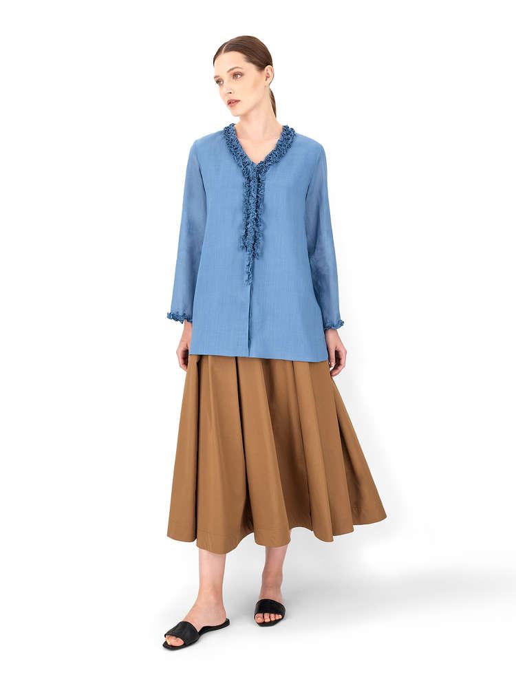 Ramie fabric blouse