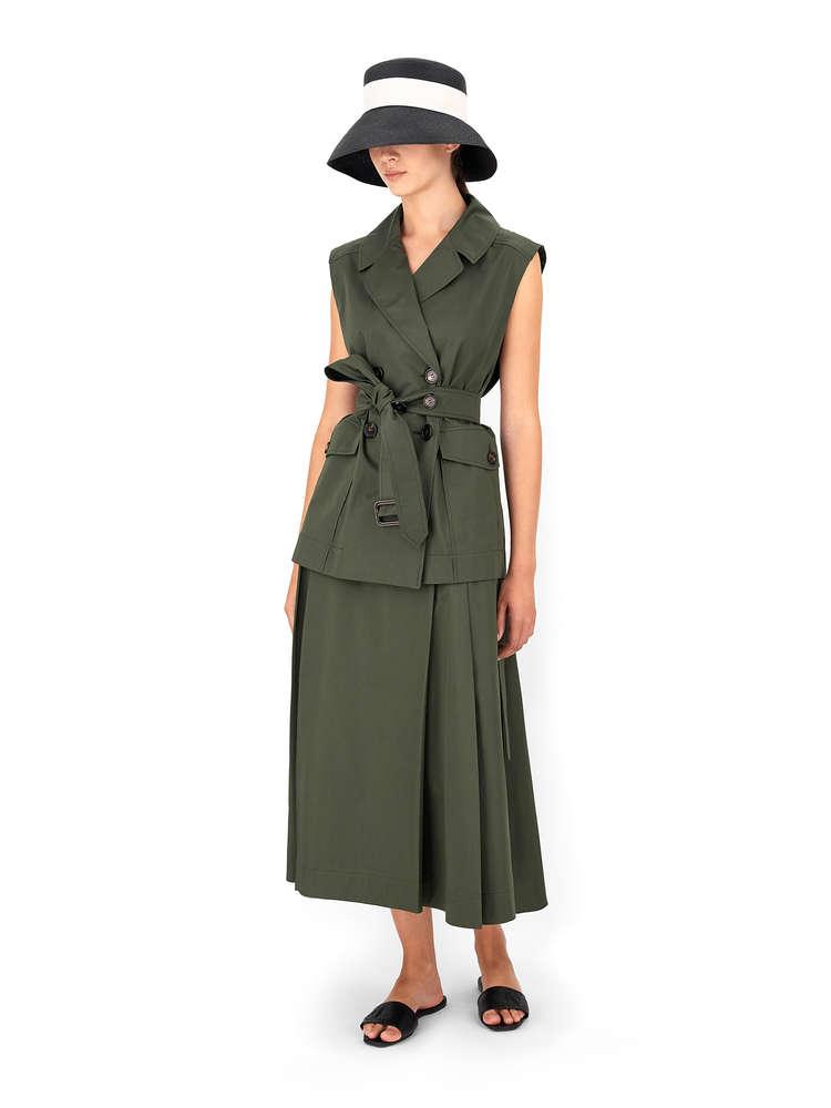 Cotton sateen waistcoat
